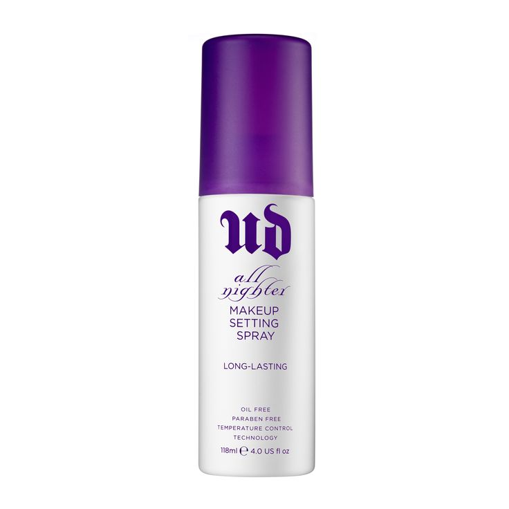 Mist on this weightless spray to give your makeup serious staying power. Urban Decay All Nighter Make-Up Setting Spray keeps your makeup looking gorgeously just-applied for up to 16 hours —...