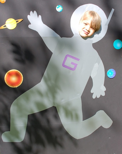 Astronaut Photo Cutout. Smarty Parties: Graham's Solar System 5th Birthday, space party