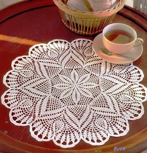 Free Crochet Patterns For Table Doilies : 17 Best images about Crochet Doily Patterns on Pinterest ...