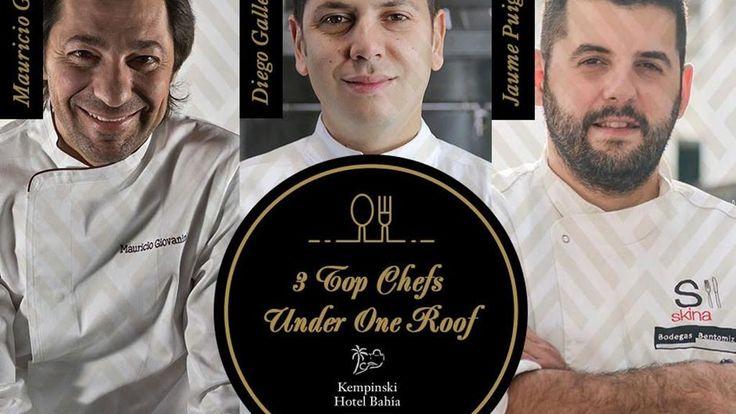 AGOSTO 2016 – NOTA DE PRENSA Los días 7 y 8 de septiembre, tres famosos chefs…