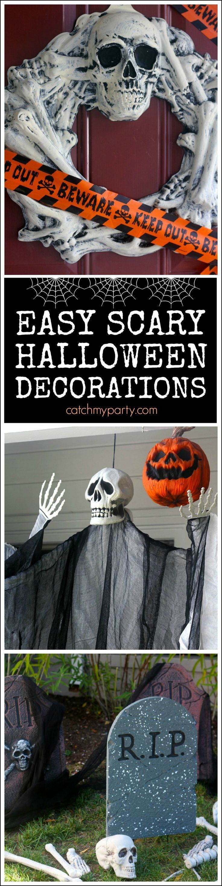 Here's How Easy It Is To Decorate Your Front Yard With Scary Decorations I  Created
