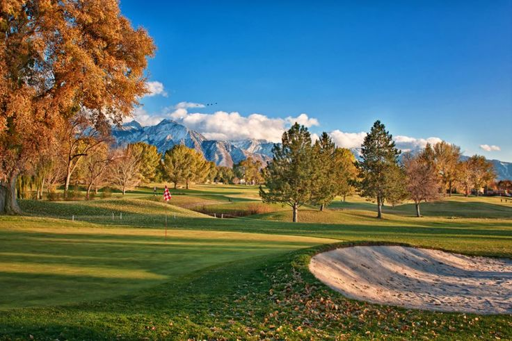 Forest Dale Golf Club, at Salt Lake City Golf Division, was built 110 years ago and clearly looks very pretty in the fall! #GolfCourseOfTheDay! | Rock Bottom Golf #RockBottomGolf