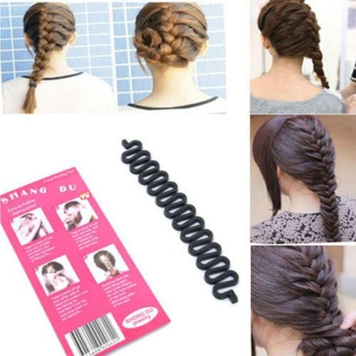 [Visit to Buy] New 5pcs/lot Fashion French Hair Braiding Tool Roller With Hook Magic Hair Twist Styling Free Shipping #Advertisement