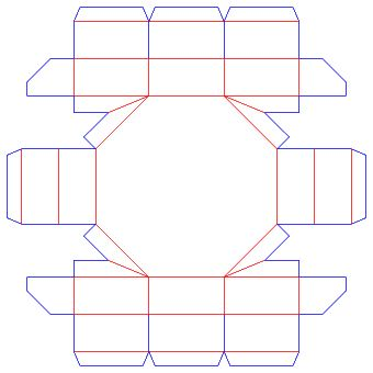 octagon type packaging box/abnormal packaging design|Packmage CAD