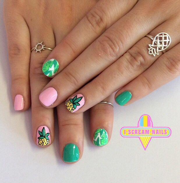 Tommy Bahama nails by Iscream nails