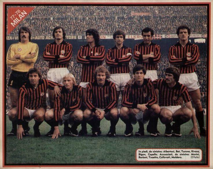 AC Milan, 1977/78. Source: Maglia Rossonera