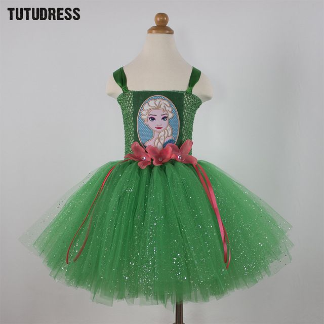 Good price Green Children Kid Girl Anna Elsa Dress Princess Cosplay Elsa Costume Halloween Baby Girls Tulle Tutu Dress Robe Enfant Vestidos just only $12.94 with free shipping worldwide  #girlsclothing Plese click on picture to see our special price for you