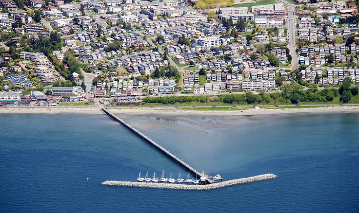 Gorgeous #WhiteRock Aerial Photo - OCEAN VIEWS from the Hillside Homes overlooking The Pier