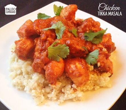 This Paleo Chicken Tikka Masala has has a creamy sauce that is packed full of flavor. Serve over cauli-rice or eat is straight from the bowl!