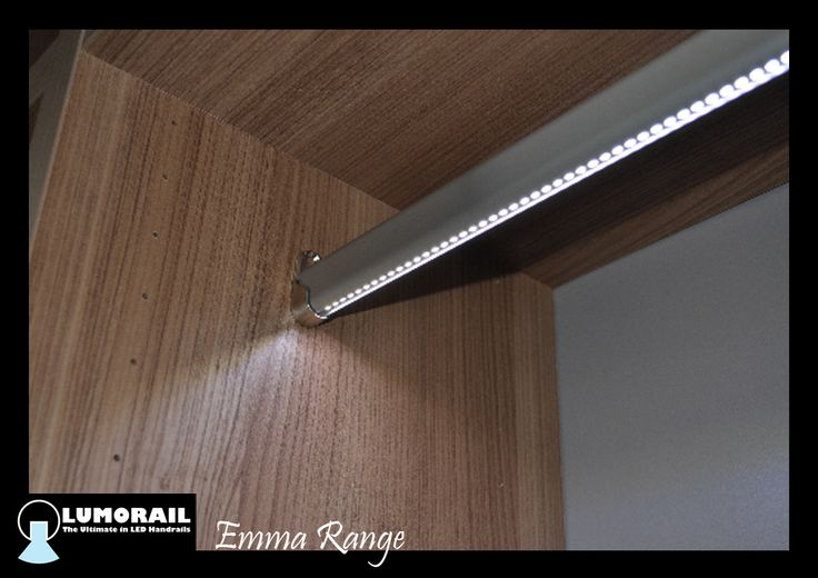 Illuminated closet rail 'The Emma'. A heavy duty aluminium rail, specifically designed for use as a closet hanging rail. This is available in a range of lengths and light options including colour changing. www.lumorail.com.au for more info.   #LEDClosetRail