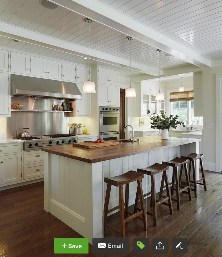 Island Type Kitchen Layout: Vertical Shiplap On Island