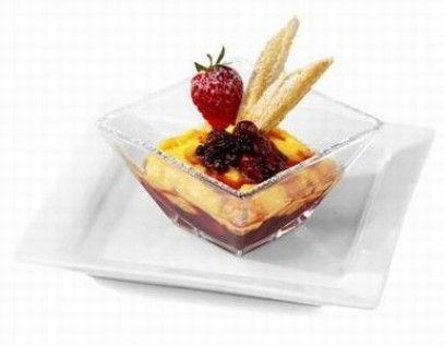 Coppa Catalana with Wild Berry Mostarda Lazzaris