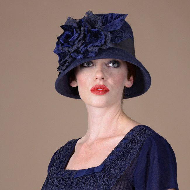 8305TNV Tanya, navy – Louise Green Millinery