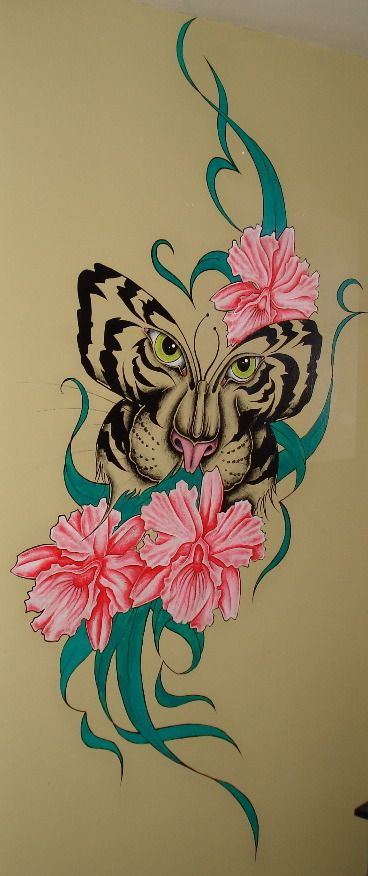 Leopard instead, and maybe different flowers..