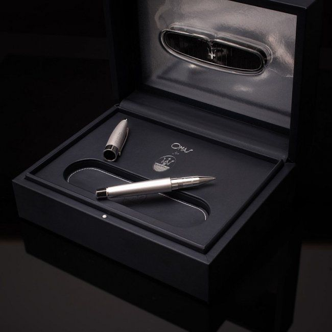 Limited Silver Omas for Maserati Roller Ball Pen : Lot 2713 @ Baer & Bosch Auctioneers
