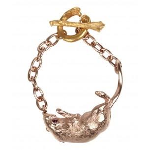 claire english rose-gold mouse bracelet