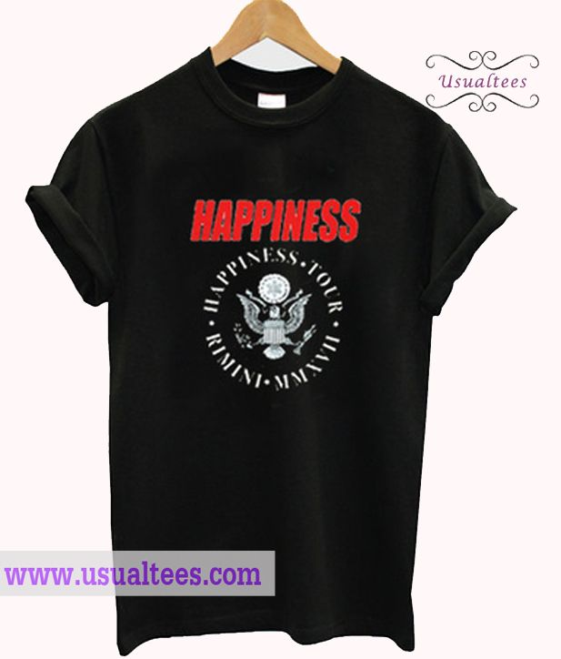 Happiness Tour Rimini T Shirt from usualtees.com This t-shirt is Made To Order, one by one printed so we can control the quality.