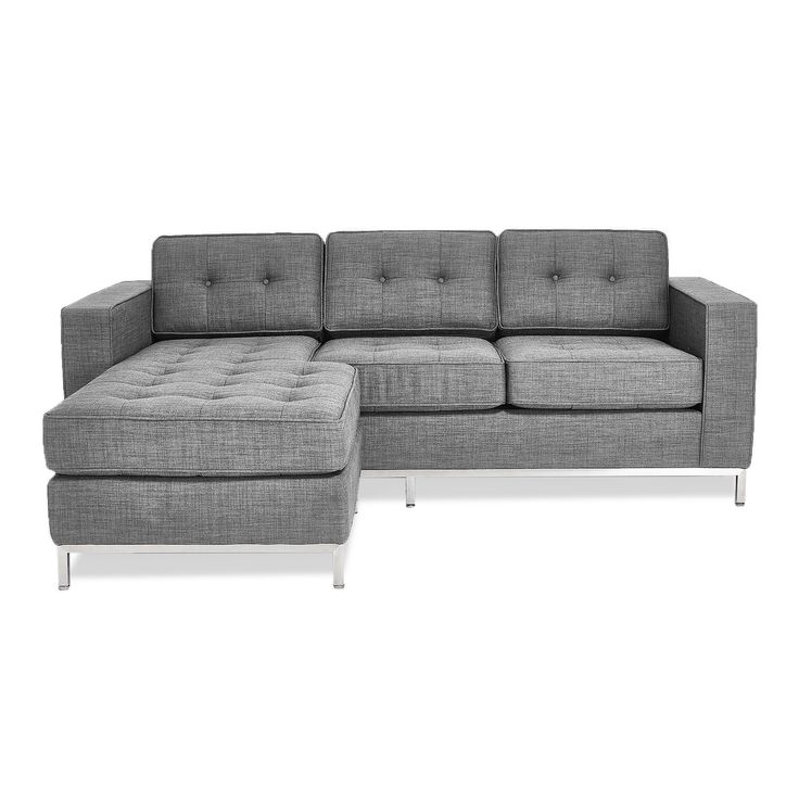 The Gus* Modern Jane Loft Bi-sectional is handcrafted from a sustainable goodwood frame. Its tufted finish gives this piece a classic aesthetic, while its soft foam core is made from naturally certified materials. Available as two bi-sectionals and as a sofa.