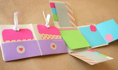 "DIY: Album Scrapbook mini-pocket ""Fold"" ~ Craftingeek*"