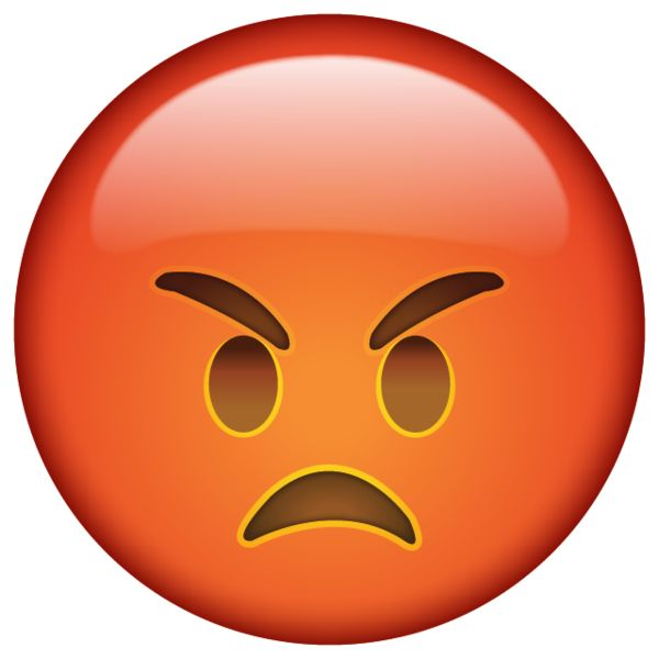 When you're so mad that you're red in the face and scowling, this angry little emoji is perfect for you.