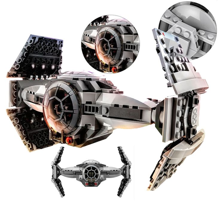 ZW 354pcs star Wars series The Force Awakens TIE Advanced Prototype minifigure fighter Building Blocks Toy Compatible With Legoe