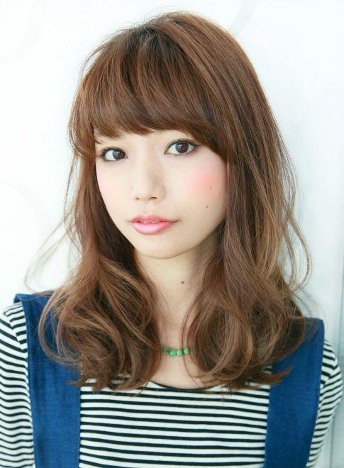 ジューシーセミディ 【Gran mash】 http://beautynavi.woman.excite.co.jp/salon/26422?pint ≪ミディアム・ヘアスタイル・medium・hairstyle・髪形・髪型・セミロング≫