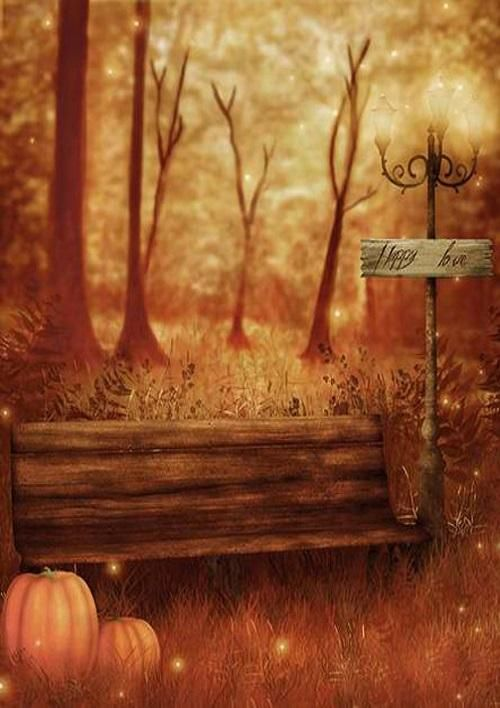 Halloween photography backdrop forest background HalloweenAutumn - halloween backdrop