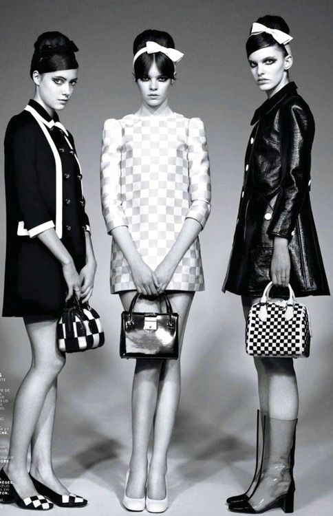 1960's fashion - twiggy look for mary quant london                                                                                                                                                                                 More