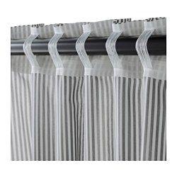 IKEA - GULSPORRE, Gardinenpaar, , Blickdichte Gardinen schirmen Lichteinfall effektiv ab und sorgen für Privatsphäre.Für Gardinenstange oder -schiene geeignet.Gardinen können direkt an den verdeckten Schlaufen oder mit Ringen und Haken an einer Gardinenstange aufgehängt werden.Mit Gardinenband; lässt sich kombiniert mit RIKTIG Haken einfach in effektvolle Falten legen.