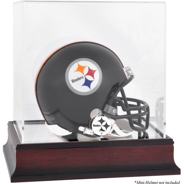 Pittsburgh Steelers Fanatics Authentic Mahogany Logo Mini Helmet Display Case - $49.99
