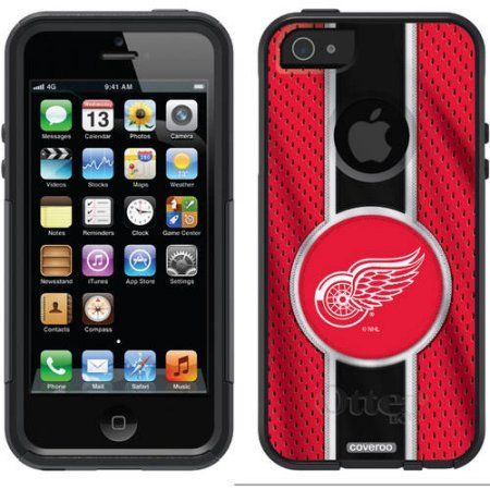Chicago Blackhawks Primary Logo Design on OtterBox Commuter Series Case for Apple iPhone 5SE/5s, Red