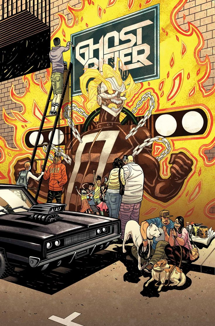 """ALL-NEW GHOST RIDER #6 FELIPE SMITH (W) • DAMION SCOTT (A) Cover by TRADD MOORE """"LEGEND"""" • GHOST RIDER has become a local hero • Can ROBBIE REYES resist the call of street racing? • Who is the mysterious figure who takes an interest in the new Ghost Rider? 32 PGS./Rated T+ …$3.99"""