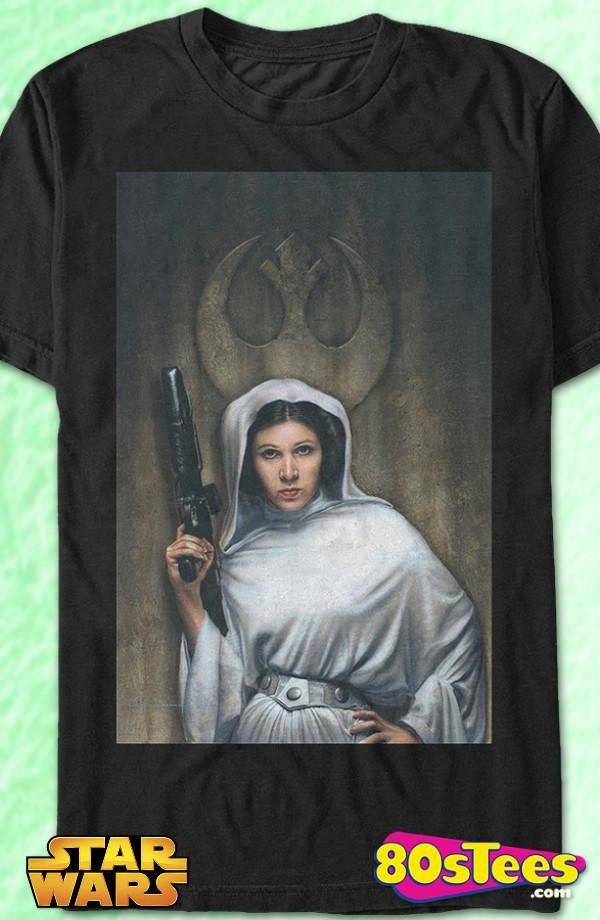 Star Wars Men/'s Graphic Tee Princess Leia T-shirt color Black