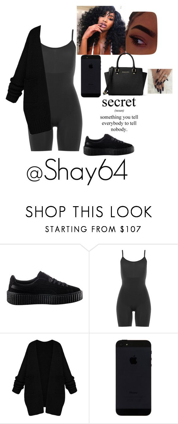"""""""Secrets - The Weeknd"""" by shay64 on Polyvore featuring Puma, SPANX and Michael Kors"""