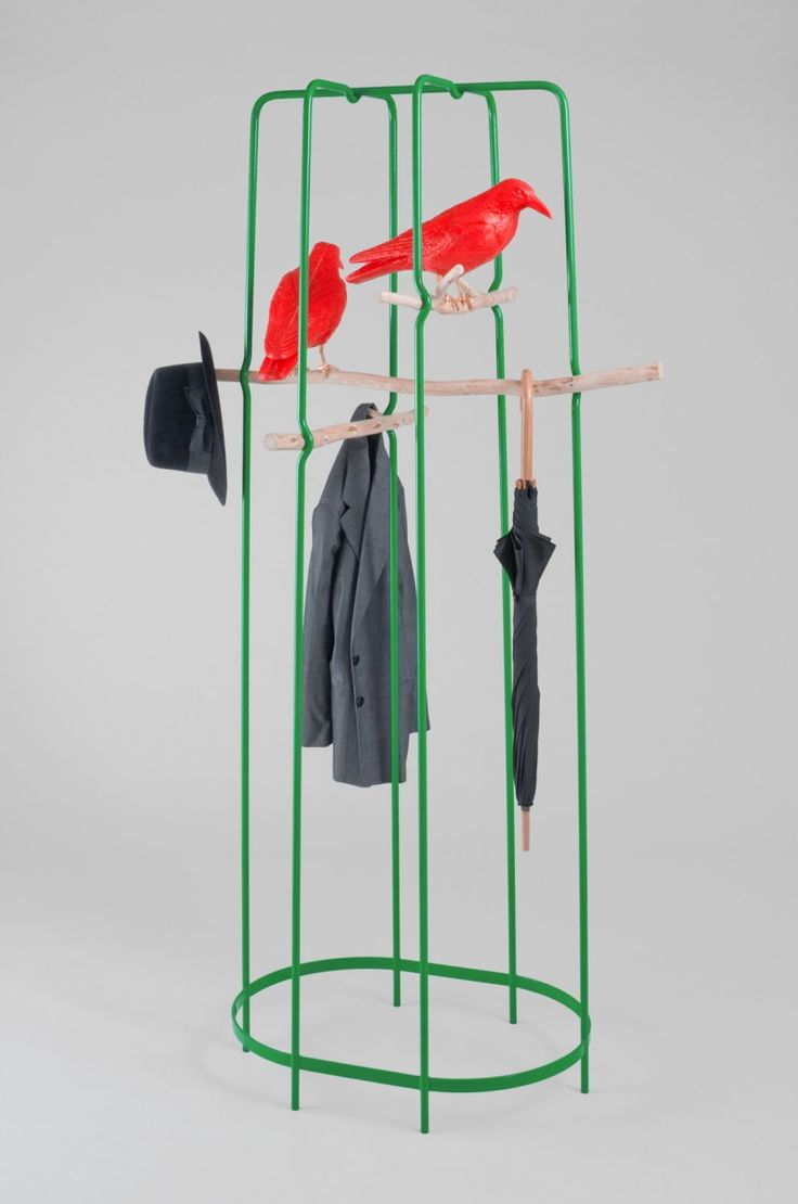 Chuckle Brothers Coat Rack by Frank Maximilian for Miltonpriest –– Like most pieces in the Miltonpriest collection, the Chuckle Brothers Coat Rack was inspired by an evocative folkloric reference: crows. –– Shop –– Pamono