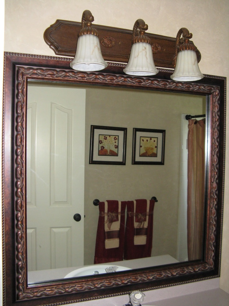 bathroom mirror frame kit sticks right to the surface of your existing mirror plastic