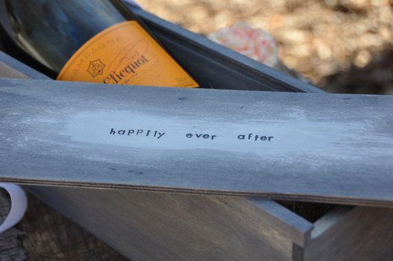Wine box custom wine box wedding gift rustic by laceandtwig