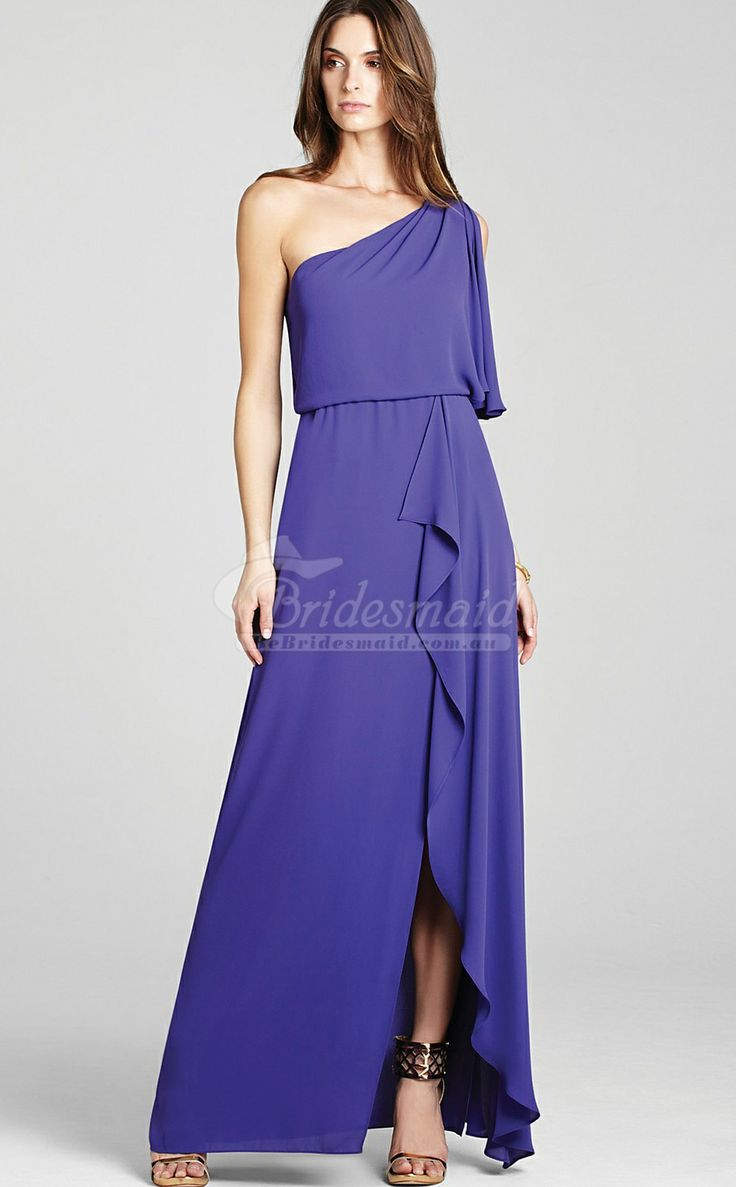 132 best long bridesmaid dresses images on pinterest affordable classic regency chiffon one shoulder long bridesmiad dresspurple bridesmaid dresses ombrellifo Images