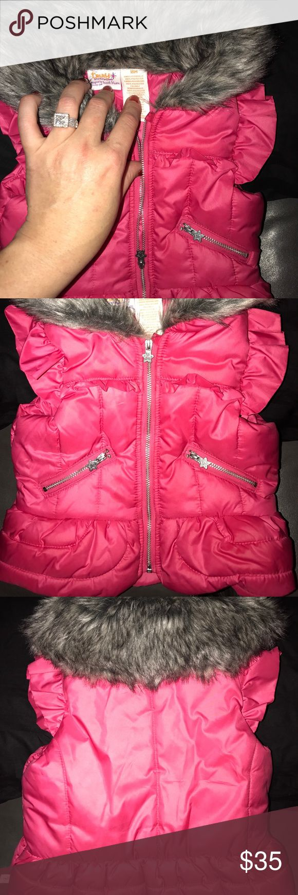 Totally Scrumptious by heidi klum vest Sz 18M Totally Scrumptious by heidi klum vest. Size 18 Months. In excellent condition. Only worn one time. Pet/smoke free! Heidi Klum Intimates Jackets & Coats Vests
