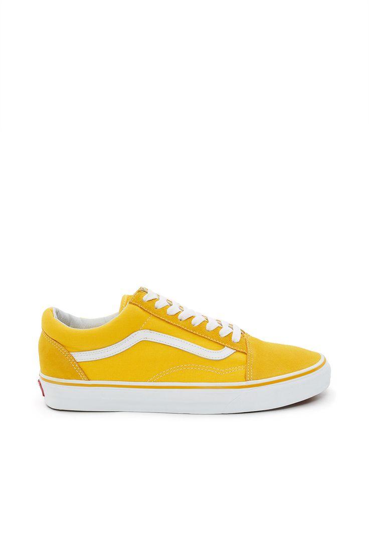 vans old skool yellow stripe