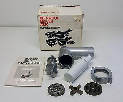 Vintage Retro Kenwood Chef A720 Mincer Attachment in Original Box