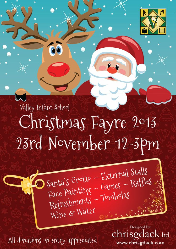 Poster designed for Valley Infant School's Christmas Fayre 2013 held in #Solihull #bizitalk