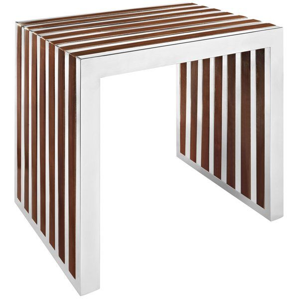The conduit design of this Gunnar series installment artfully blends stainless steel tubing with mahogany varnished poplar wood slats. Modernism used to be about extremes. Wild shapes and patterns that don't dare resemble its predecessors. We've reached an age of maturity of sorts. We appreciate style, but all the more, we respect those designs that represent a blending of cultures. The Gunnar steel and wood panel bench is famous not for its radical shape, but for the strategic transc...