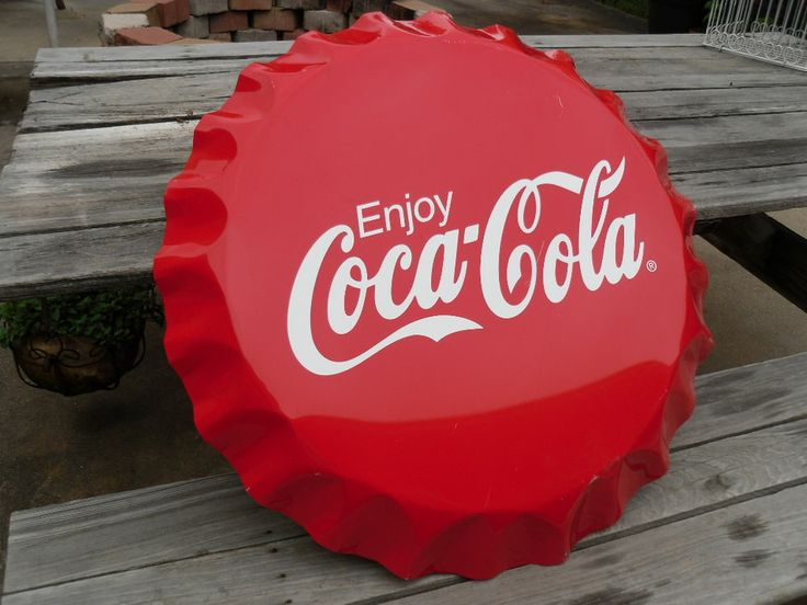 Coke Coca Cola Round 27 Quot Red Bottle Cap Tin Metal Sign