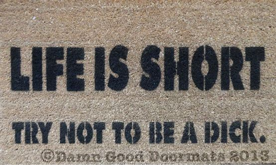 If you're philosophical… | 19 Welcome Mats That Explain Your Feelings So You Don't Have To