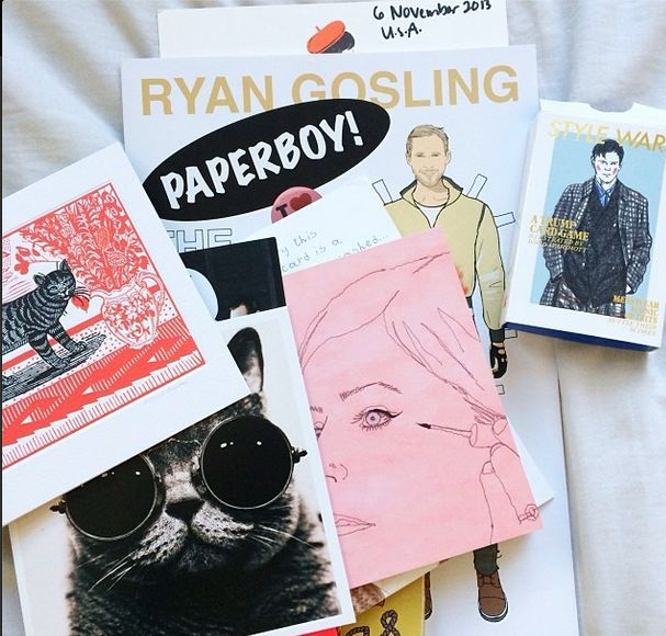 Birthday gifts from those who know me well - Gosling and cats