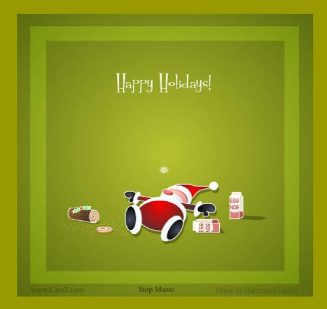 16 Places to Find Fabulous and Free Christmas Ecards: Eggnog by Camilla Eriksson