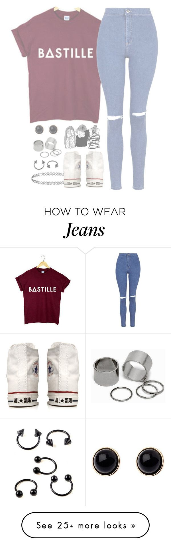 """//Flaws//"" by alex-bows on Polyvore featuring Topshop, Converse, Pieces and Adele Marie"