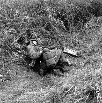 Fallen Fallshirmjager, battle of Ortona (Italy), december 1943, pin by Paolo Marzioli