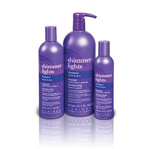 Clairol Shimmer Lights: meant for gray, white, or highlighted hair. REALLY SHINES up your hair & has the most wonderful fragrance. I just love this product!